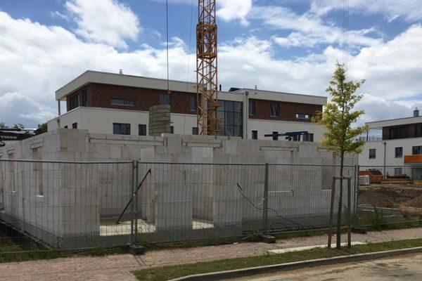 Entstehung von 4 neuen Mehrfamilienhäusern